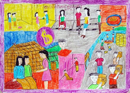 Photo Album: Child Rights Drawing Contest   Cambodia   LICADHO
